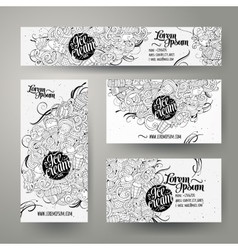 Corporate Identity templates set doodles ice cream vector