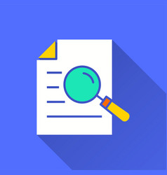 data analysis - icon for graphic and web vector image