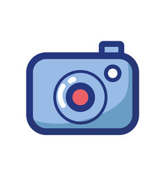digital camera technology object to photograph vector image
