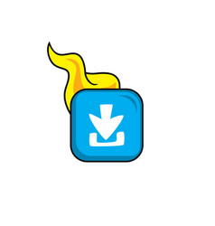 Download hot flame icon button theme art vector