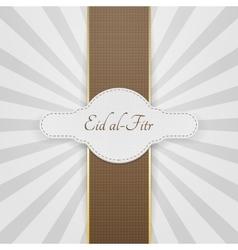 Eid al-fitr realistic festive badge vector