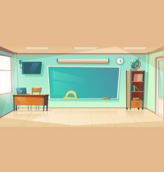 Empty classroom interior school or college class vector