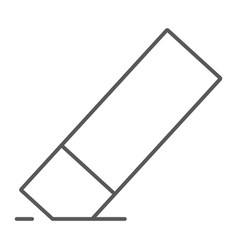 Eraser thin line icon tools and design rubber vector