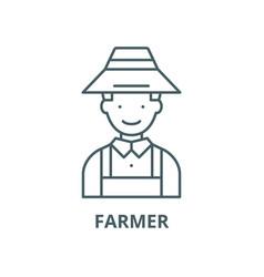 farmer line icon linear concept outline vector image
