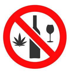 Forbidden wine drugs icon vector