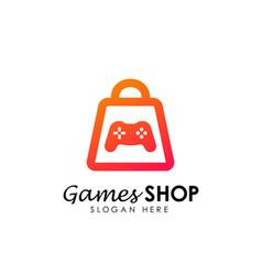 games store logo icon design template game shop vector image