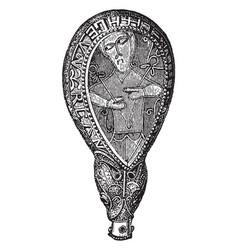Gold alfred jewel vintage engraving vector