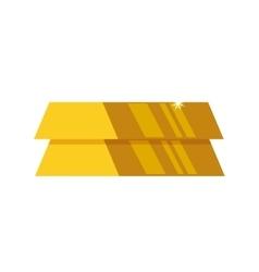 Gold bar block yellow treasure icon vector image