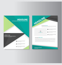 Green Black brochure flyer leaflet templates set vector