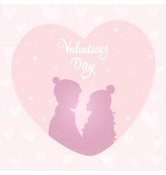 Happy couple silhouette vector