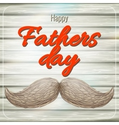 Happy Father s Day card with mustache EPS 10 vector