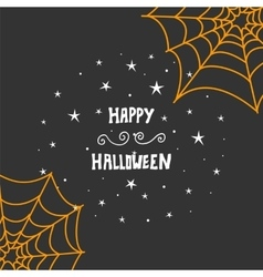 Happy Halloween message design background Hand vector image