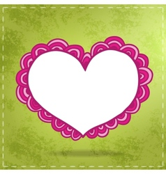 Happy Valentines Day card with doodle heart vector image