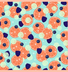 healthy organic fruits seamless pattern vector image