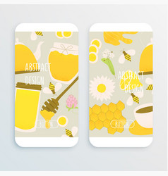 honey and ginger design concept vector image