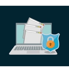 Internet security document file page web padlock vector