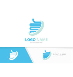 Intestine human organ logo combination vector