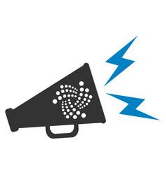 Iota alert megaphone flat icon vector