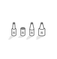 isometric beer bottles vector image