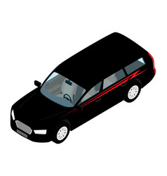 isometric high quality city transport car icon vector image