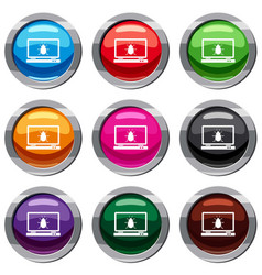 laptop set 9 collection vector image