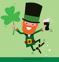 Leprechaun Celebrating St Patricks Day vector image