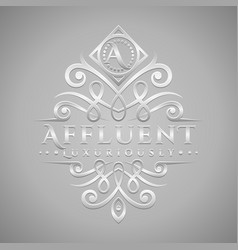 Letter a logo - classic luxurious silver vector