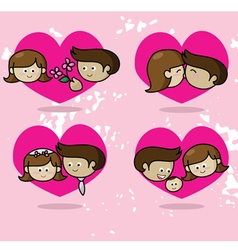 Love story Couple in love vector image