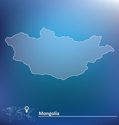 Map of Mongolia vector image