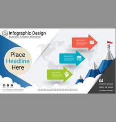 milestone timeline infographics template vector image