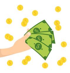 Money in hand icon design vector