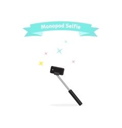 Monopod selfie concept vector