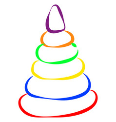 multicolor pyramid on white background vector image