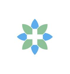 natural health care logo vector image