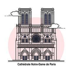 Notre-Dame de Paris Card vector