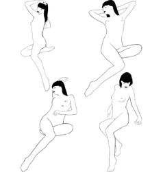 Nude Girl Posing vector image