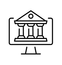 online learning linear icon vector image