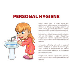 Personal hygiene poster girl vector