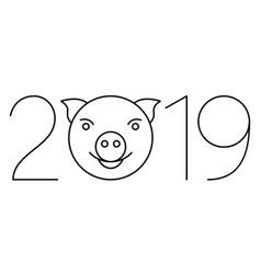 Pig 2019 symbol vector