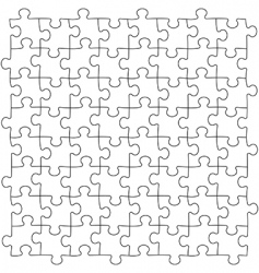 Puzzles seamless template vector