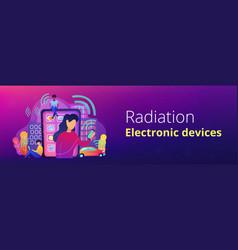 Radio fields influence banner template vector