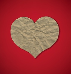 Red Paper With Heart vector