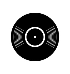 Retro vinyl record icon vector image