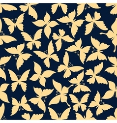 Romantic seamless pattern of flying butterflies vector