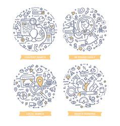 searching concepts doodle vector image