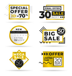 set modern abstract banners discount offer vector image
