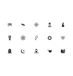 set of 15 editable dyne icons includes symbols vector image