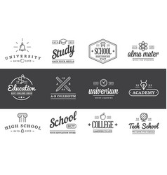 set of education logotypes can be used as logo or vector image