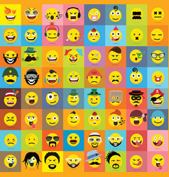 Set of emoticons set of emoji isolated vector