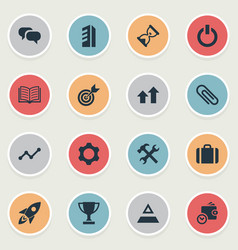 Set of simple teamwork icons vector